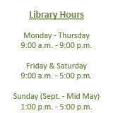 Link to Bloomingdale Public Library Home Page